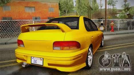 Subaru Impreza WRX STI GC8 1999 v1.0 para vista lateral GTA San Andreas