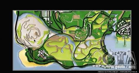Remaster Map Full Version para GTA San Andreas sucesivamente de pantalla