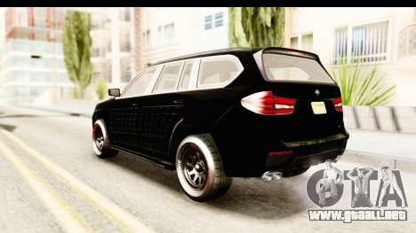 GTA 5 Benefactor XLS Armored para GTA San Andreas left