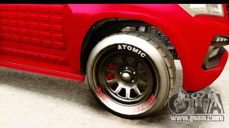 GTA 5 Benefactor XLS Armored IVF para GTA San Andreas vista hacia atrás