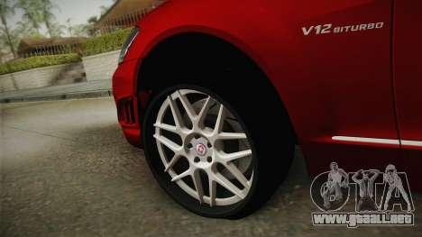 Mercedes-Benz W221 S65 Stance v2 para GTA San Andreas vista hacia atrás