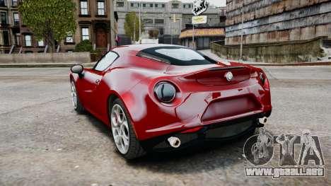 Alfa Romeo 4C 2016 para GTA 4 visión correcta
