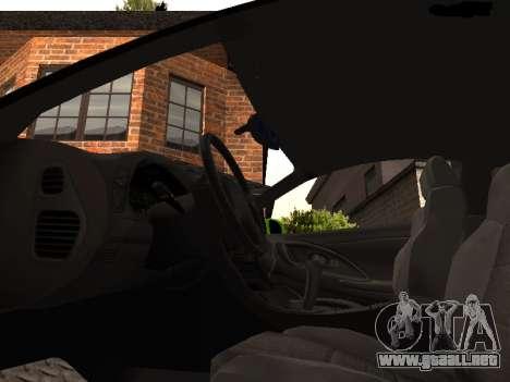 Mitsubishi Eclipse The Fast and the Furious para GTA San Andreas vista hacia atrás
