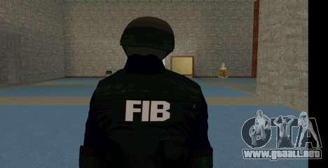 GTA 5 FIB SWAT Blue para GTA San Andreas segunda pantalla