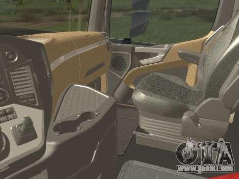 Mercedes-Benz Actros Mp4 6x2 v2.0 Steamspace para vista lateral GTA San Andreas
