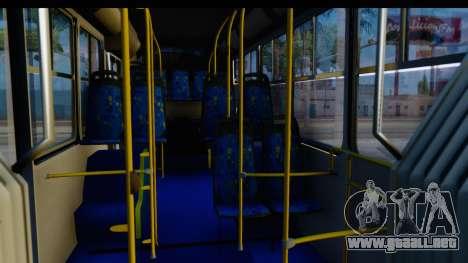Metrobus de la Ciudad de Mexico Trailer para GTA San Andreas vista hacia atrás