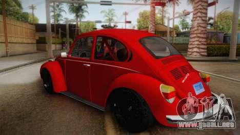 Volkswagen Beetle Escarabajo para GTA San Andreas left