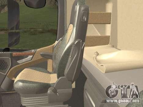 Mercedes-Benz Actros Mp4 4x2 v2.0 Steamspace v2 para vista inferior GTA San Andreas
