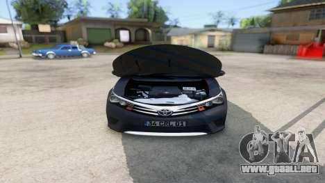 Toyota Corolla 2014 HQLM para visión interna GTA San Andreas