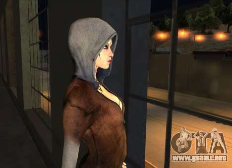Kat from DMC para GTA San Andreas sucesivamente de pantalla
