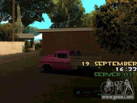 C-HUD BREZZ para GTA San Andreas tercera pantalla