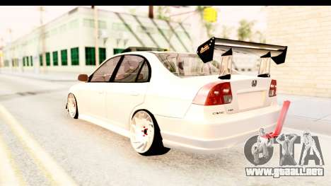 Honda Civic Vtec 2 Berkay Aksoy Tuning para la visión correcta GTA San Andreas