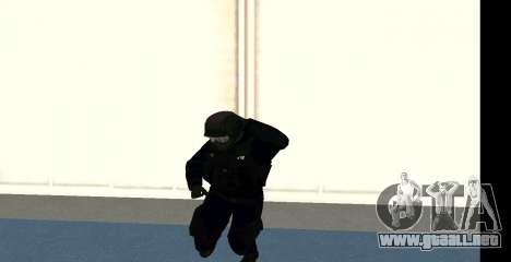 GTA 5 FIB SWAT Blue para GTA San Andreas sexta pantalla