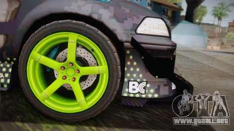D1GP Toyota Mark II Sunoco Monster para GTA San Andreas vista posterior izquierda