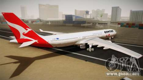 Airbus A330-300 Qantas 80 Years para GTA San Andreas left