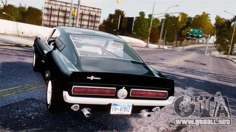 Ford Mustang Shelby GT500 1967 para GTA 4 visión correcta