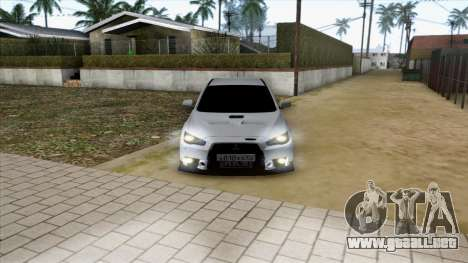 Mitsubishi Lancer Evolution X para vista inferior GTA San Andreas