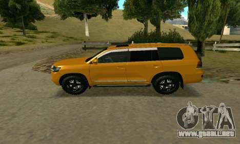 Toyota Land Cruiser 200 2016 para visión interna GTA San Andreas