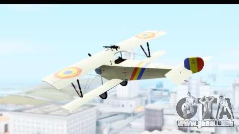 Nieuport 11 Bebe - Nr.865 Romania para GTA San Andreas left
