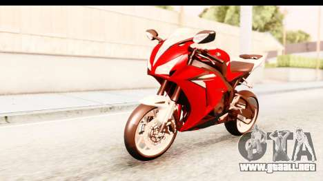Honda CBR1000RR 2012 para la visión correcta GTA San Andreas