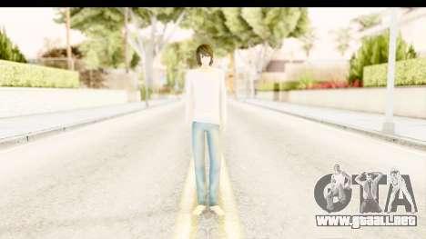 L Lawliet (Death Note) para GTA San Andreas segunda pantalla
