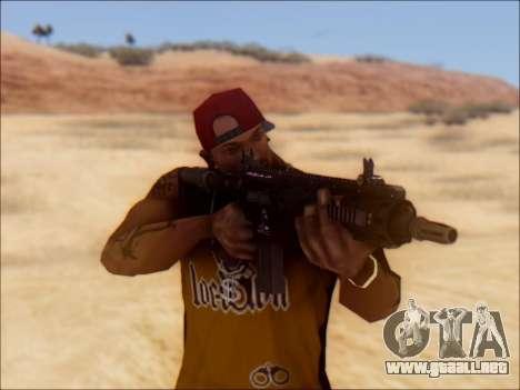 GTA 5 Vom Feuer Carbine Rifle para GTA San Andreas tercera pantalla