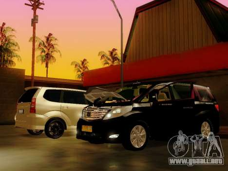Toyota Alphard Taxi Silver Bird para GTA San Andreas vista posterior izquierda