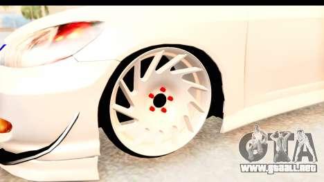Honda Civic Vtec 2 Berkay Aksoy Tuning para GTA San Andreas vista hacia atrás