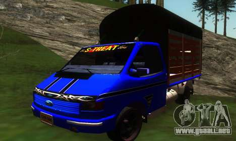Ford Transit Stylo Colombia para GTA San Andreas left