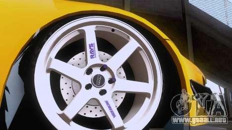 Honda S2000 para GTA San Andreas vista hacia atrás