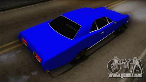 Bestia 1971 from Midnight Club 2 para GTA San Andreas vista posterior izquierda