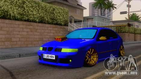 Seat Leon Haur Edition para la visión correcta GTA San Andreas