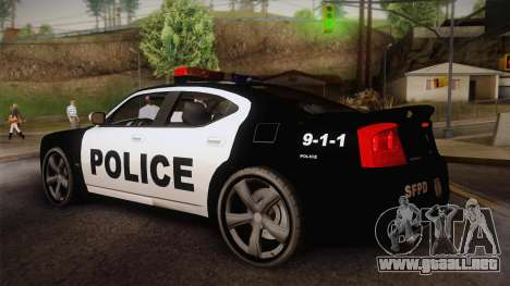 Dodge Charger SRT8 Police San Fierro para GTA San Andreas left