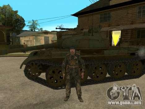 T-62 para GTA San Andreas vista posterior izquierda