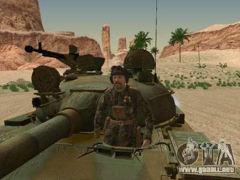 T-62 para vista inferior GTA San Andreas