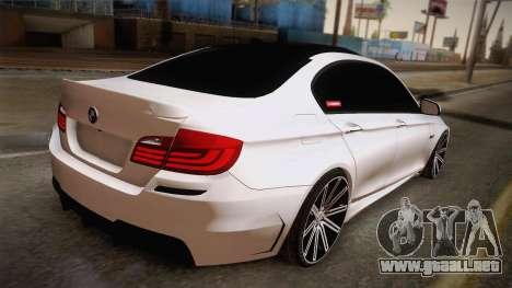 BMW M5 F10 para GTA San Andreas left