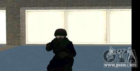 GTA 5 FIB SWAT Blue para GTA San Andreas
