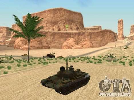 T-62 para GTA San Andreas vista hacia atrás