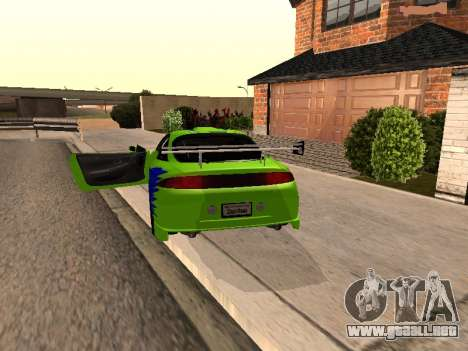 Mitsubishi Eclipse The Fast and the Furious para GTA San Andreas vista posterior izquierda