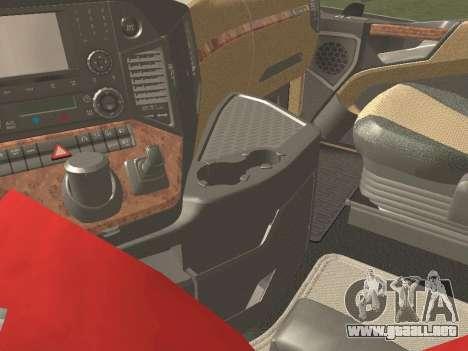Mercedes-Benz Actros Mp4 6x2 v2.0 Gigaspace v2 para visión interna GTA San Andreas