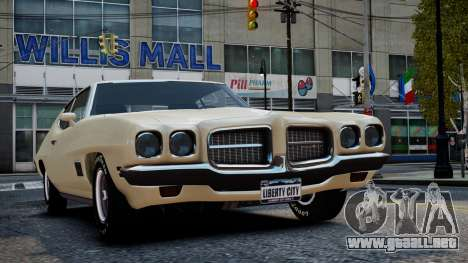 Pontiac LeMans Coupe 1971 para GTA 4 vista superior