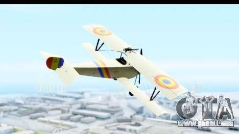 Nieuport 11 Bebe - Nr.865 Romania para la visión correcta GTA San Andreas