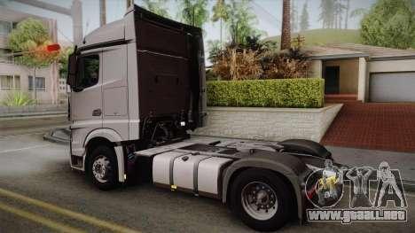 Mercedes-Benz Actros Mp4 4x2 v2.0 Steamspace v2 para GTA San Andreas left