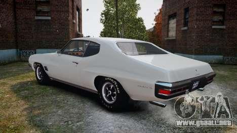 Pontiac LeMans Coupe 1971 para GTA 4 visión correcta