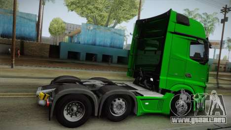 Mercedes-Benz Actros Mp4 6x2 v2.0 Gigaspace v2 para GTA San Andreas left