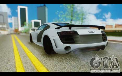 Audi R8 GT Sport 2012 para GTA San Andreas left