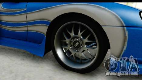 NFS: Carbon Darius Toyota Supra Updated para GTA San Andreas vista hacia atrás