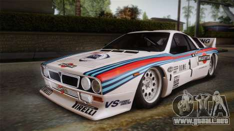 Lancia Rally 037 Stradale (SE037) 1982 IVF PJ1 para GTA San Andreas left