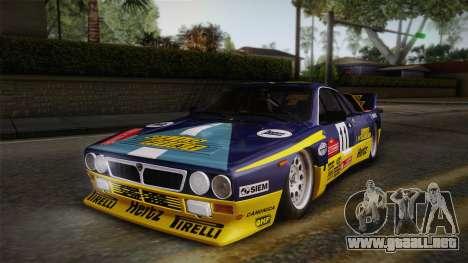 Lancia Rally 037 Stradale (SE037) 1982 IVF PJ1 para GTA San Andreas vista posterior izquierda