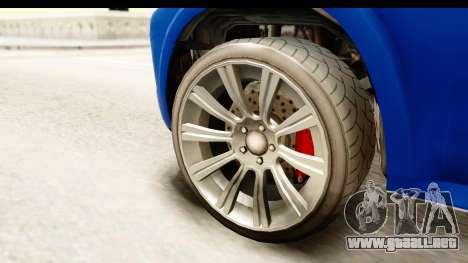 GTA 5 Benefactor XLS para GTA San Andreas vista hacia atrás